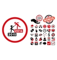 2016 Business Training Flat Icon with Bonus vector image vector image