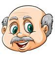 A bald man vector image