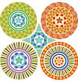 A set of geometric patterns mandalas vector image vector image