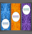 abstract banners set with colorful pixel vector image vector image