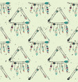 abstract grunge seamless pattern with tribal vector image vector image