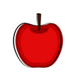 apple sketch icon vector image