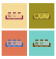 assembly flat icons coffee jar of beans vector image vector image