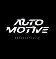 automotive alphabet letter font modern logo