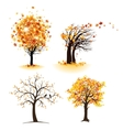 Autumn tree set vector image vector image