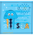 Background with jellyfish vector image vector image