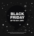 banner sale of 50 off black friday vector image vector image