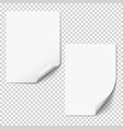 blank paper mockups two empty paper sheets with vector image vector image