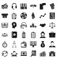 business and finance icons set simple style vector image vector image