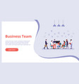 business team people work finance concept vector image vector image
