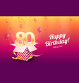 celebrating 80th years birthday vector image vector image