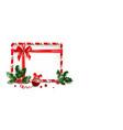christmas design frame vector image vector image