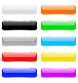 colored 3d glass buttons vector image vector image