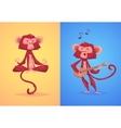 comical monkey series vector image