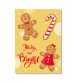 cookies smiling gingerbread man pastry vector image