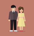 Couple of young people in flat style vector image vector image