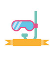 cute snorkel isolated icon vector image