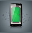digital gadget smartphone - billiard vector image