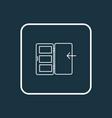 door icon line symbol premium quality isolated vector image