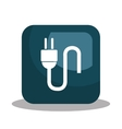 electric plug design vector image vector image