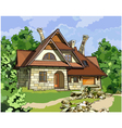 fabulous stone house vector image vector image