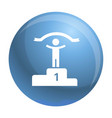 first podium place icon simple style vector image