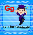 flashcard letter g is for graduate vector image vector image