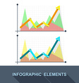 flat Business graph and chart on grey background vector image vector image