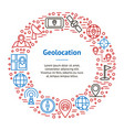 geolocation navigation banner card circle vector image