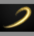 gold dust with shiny particles vector image