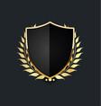 golden shield with golden laurel wreath 02 vector image vector image