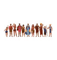 group happy aboriginal or indigenous people vector image vector image