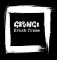 grunge modern ink brush frame black vector image