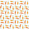 hand drawn cute carrot pattern seamless for vector image