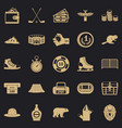 hockey referee icons set simple style vector image vector image