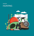 hunting season flat style design vector image vector image