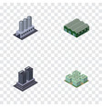isometric construction set of clinic tower vector image vector image