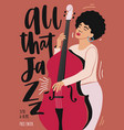 jazz music performance concert or festival vector image vector image