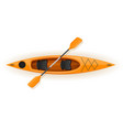 kayak from plastic for fishing and tourism vector image vector image