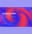 landing page template abstract background vector image vector image