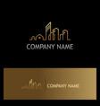 line building cityscape gold logo vector image vector image