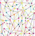 Lines and dots network vector image vector image