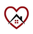 loving house home icon logo vector image