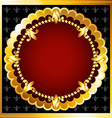 Luxurious gold frame vector image vector image
