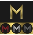 M Letter logo vector image vector image
