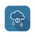 make money icon business concept flat design vector image