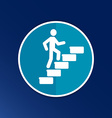 man on stairs icon button logo symbol concept vector image