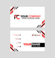 modern business card templates with fc logo vector image vector image