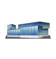 modern corporate office building icon business vector image vector image
