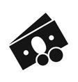 money icon black vector image vector image